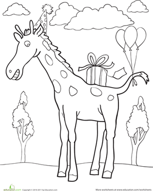 Birthday Giraffe