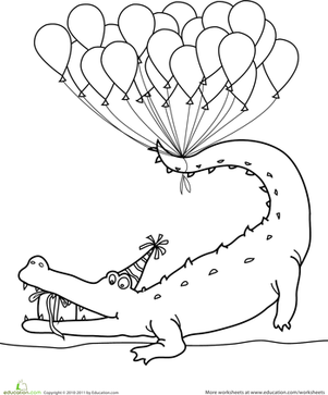Happy Birthday Coloring Pages Education Com
