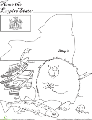 First Grade Social studies Worksheets: Empire State