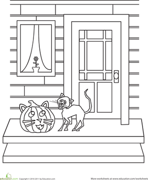 Color the Halloween Cat