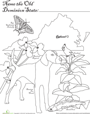 First Grade Coloring Worksheets: Old Dominion State