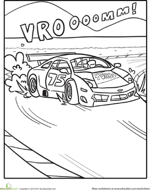 Color the Zooming Race Car