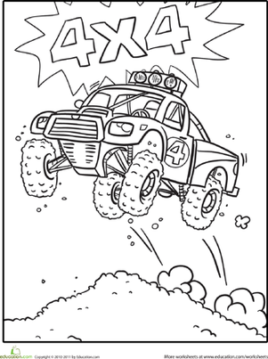 Kindergarten Coloring Worksheets: Race Car Coloring Sheet
