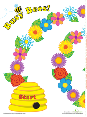 Play Busy Bees | Worksheet | Education.com