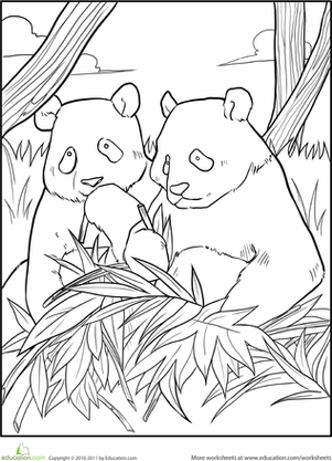 free giant panda coloring pages - photo#8