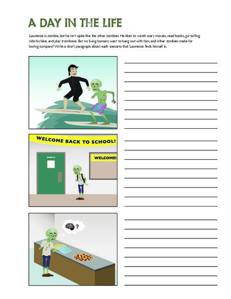 Fifth Grade Reading & Writing Worksheets: Everyday Zombie