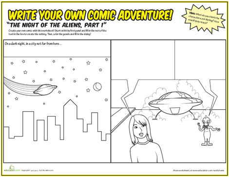 Fifth Grade Reading & Writing Worksheets: Write Your Own Comic!