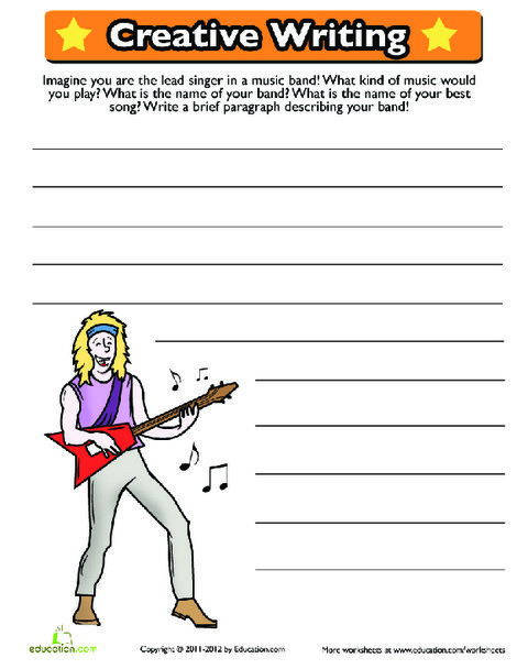Second Grade Reading & Writing Worksheets: Creative Writing Prompt