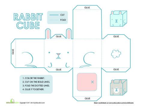Third Grade Arts & crafts Worksheets: Paper Rabbit! A Paper Project