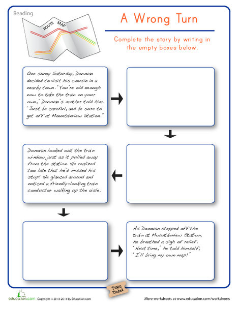 Second Grade Reading & Writing Worksheets: Interactive Story Writing