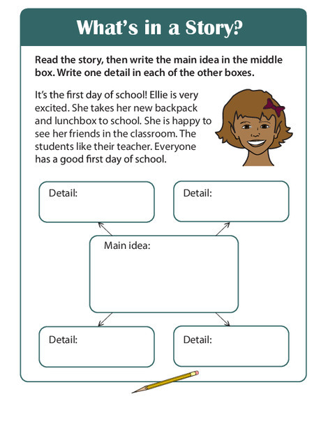 Second Grade Reading & Writing Worksheets: Story Comprehension: What's in a Story?