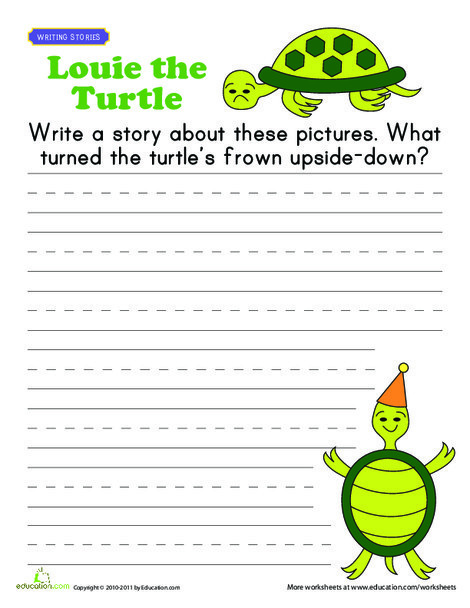 First Grade Reading & Writing Worksheets: Picture Prompt
