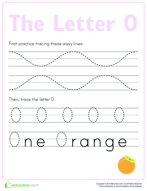 Preschool Reading & Writing Worksheets: Letter O Tracing Practice