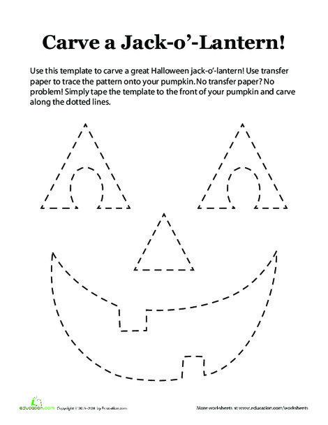 Third Grade Arts & crafts Worksheets: Pumpkin Stencil