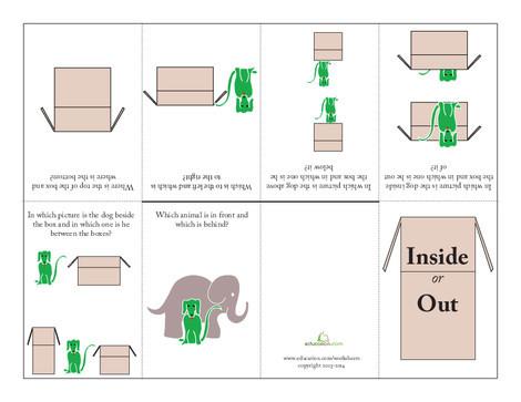 Kindergarten Arts & crafts Worksheets: Positional Words Mini Book