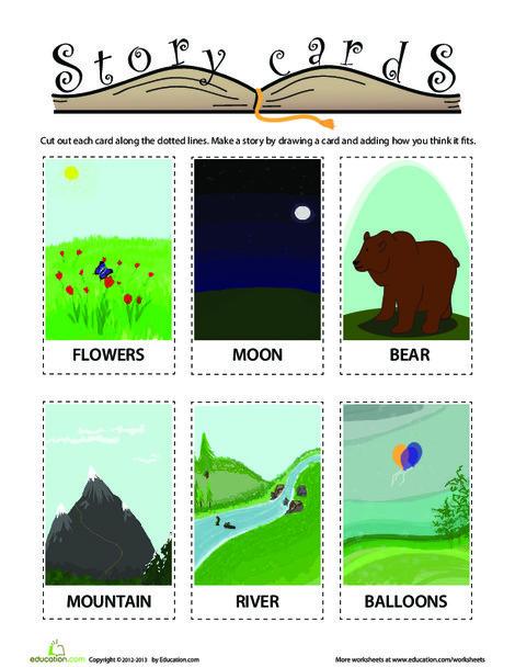 Kindergarten Reading & Writing Worksheets: Storytelling Cards