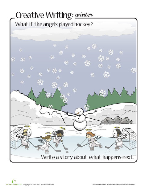 Fourth Grade Reading & Writing Worksheets: Winter Writing Prompt