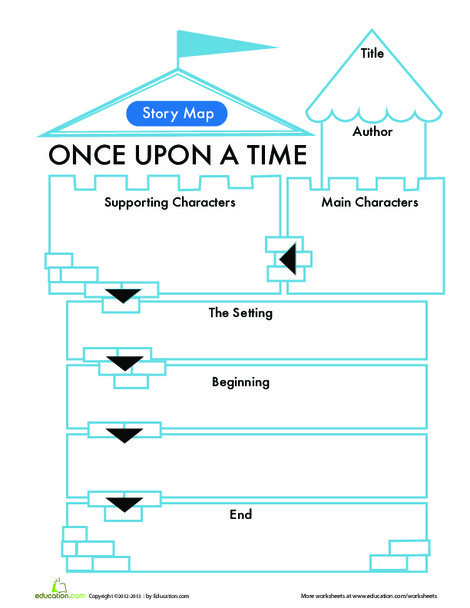 First Grade Reading & Writing Worksheets: Fairy Tale Story Map