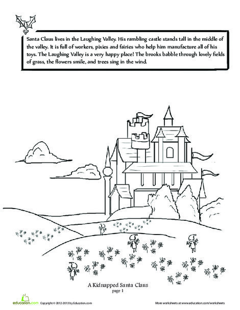 Second Grade Reading & Writing Worksheets: A Kidnapped Santa Claus