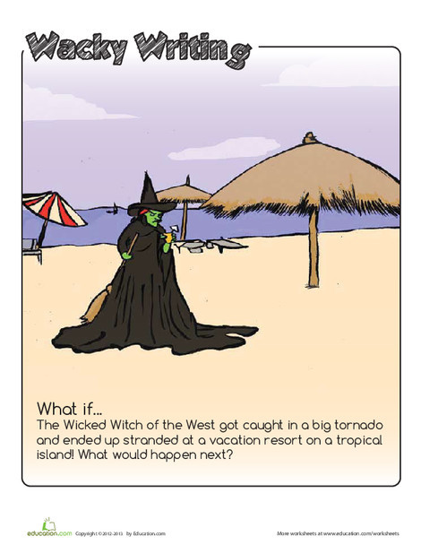 Third Grade Reading & Writing Worksheets: Wicked Witch Writing Prompt