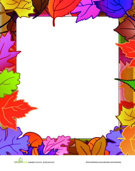 First Grade Arts & crafts Worksheets: Fall Leaves Paper
