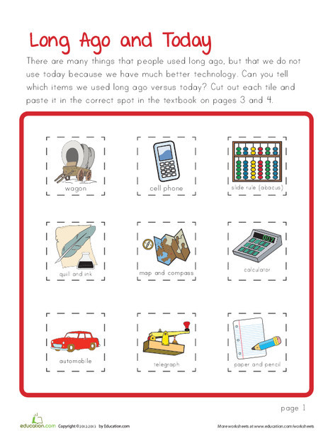 Preschool Math Worksheets: Technology Then and Now
