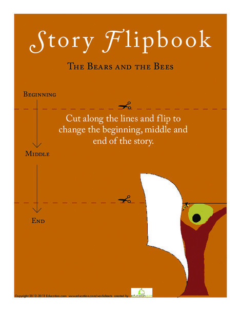 Kindergarten Reading & Writing Worksheets: Story Flipbook