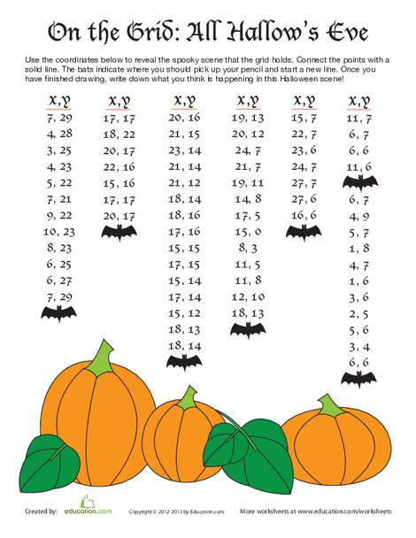 Fifth Grade Math Worksheets: Grid Drawing