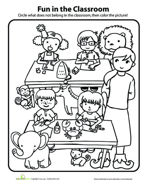 Preschool Math Worksheets: In the Classroom