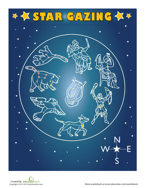First Grade Science Worksheets: Constellations for Kids