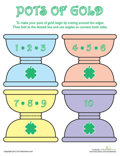 First Grade Holidays Worksheets: St. Patrick's Day Math Activity