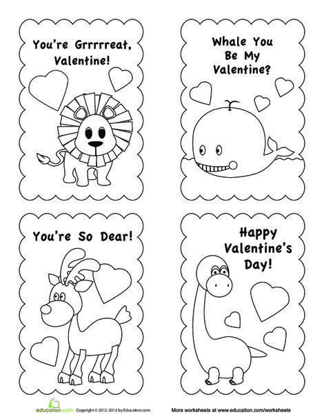 First Grade Arts & crafts Worksheets: Valentine Card Template