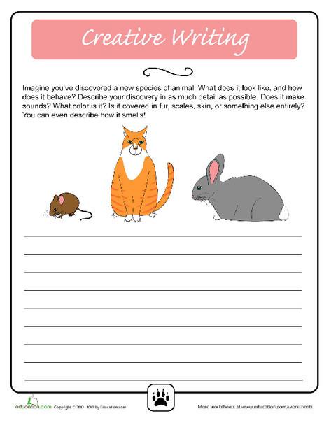 Fifth Grade Reading & Writing Worksheets: Creative Writing: Animal Antics