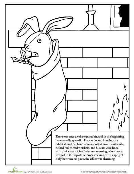 Second Grade Reading & Writing Worksheets: The Velveteen Rabbit: Part 1