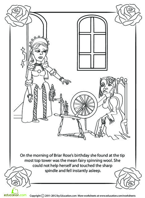 Second Grade Reading & Writing Worksheets: Briar Rose: Part 2