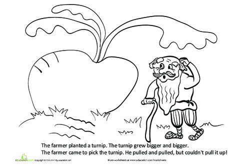 First Grade Reading & Writing Worksheets: The Giant Turnip