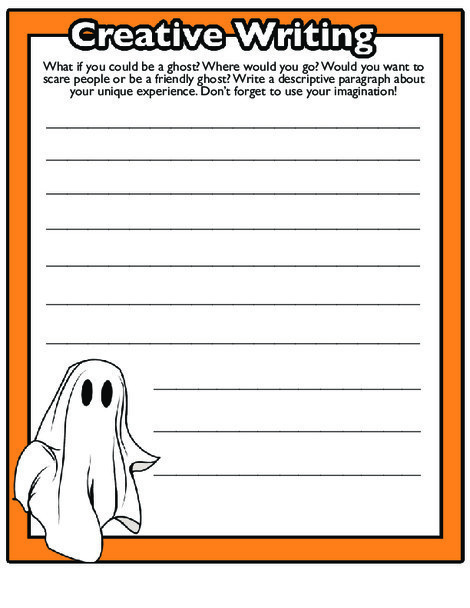 Fourth Grade Reading & Writing Worksheets: Halloween Writing Prompts #4