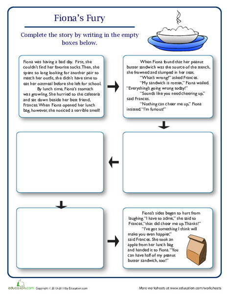Fourth Grade Reading & Writing Worksheets: Finish the Story