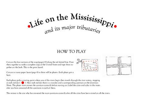 Fifth Grade Offline games Worksheets: Mississippi River Board Game