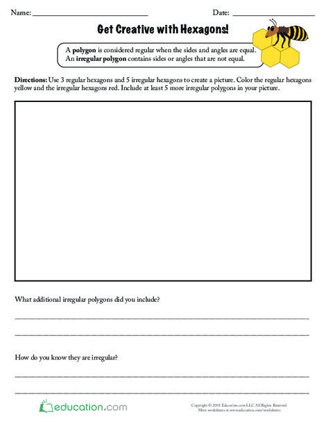 Fifth Grade Math Worksheets: Get Creative with Hexagons!