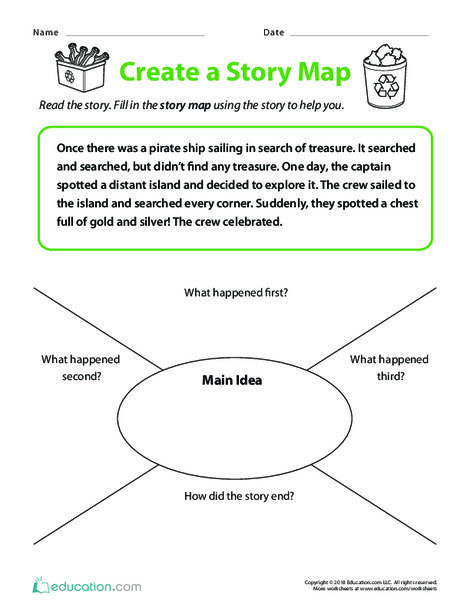 Second Grade Reading & Writing Worksheets: Create a Story Map