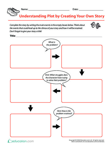 Fifth Grade Reading & Writing Worksheets: Understanding Plot by Creating Your Own Story
