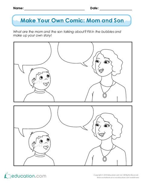 Third Grade Reading & Writing Worksheets: Summer Comics (Part Two)