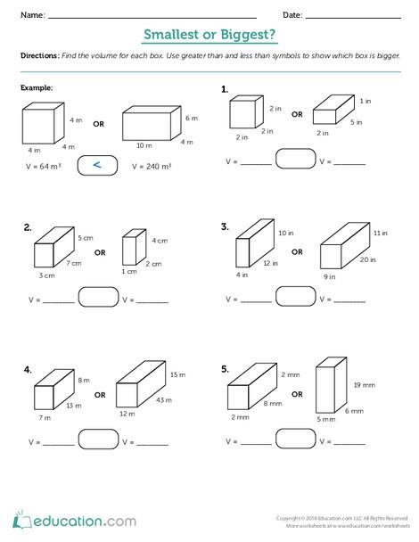 Fifth Grade Math Worksheets: Smallest or Biggest?