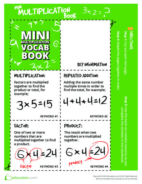 Third Grade Math Worksheets: Hooray for Arrays: A Mini Reference Guide