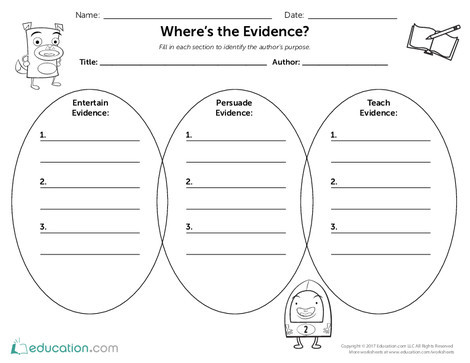 Second Grade Reading & Writing Worksheets: Where's the Evidence?