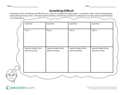 Third Grade Reading & Writing Worksheets: Something Difficult