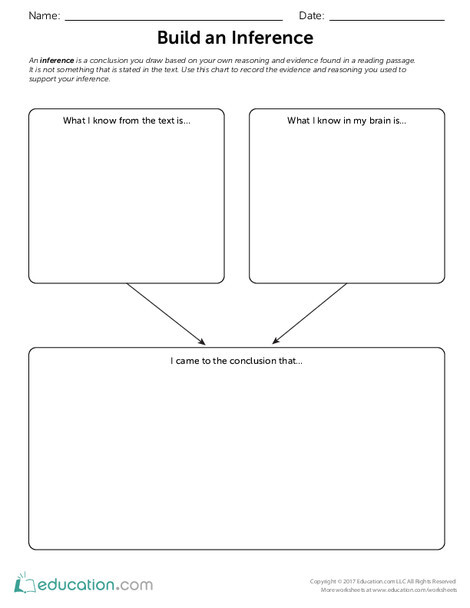 Fifth Grade Reading & Writing Worksheets: Build an Inference