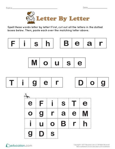 Preschool Reading & Writing Worksheets: Letter By Letter