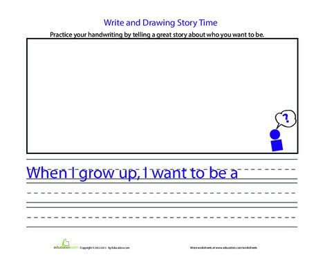 First Grade Reading & Writing Worksheets: Practice Handwriting: Careers
